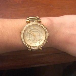 Michael Kors Parker gold watch